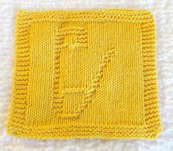 Knitting Cloth Pattern   -  BABY SAFETY PIN  -  pdf - Instant Download