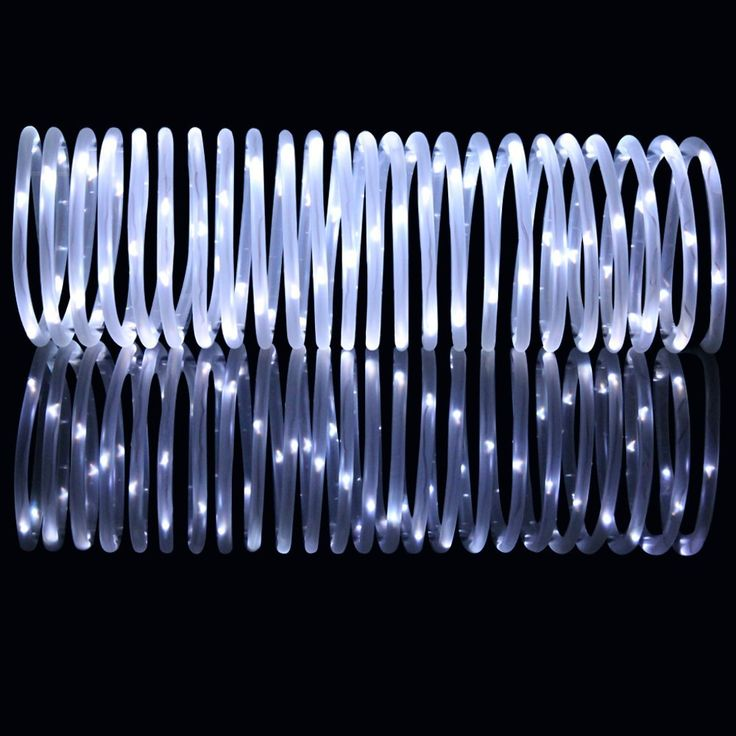 LTE 33ft 100 LED Solar Rope Lights, Outdoor Waterproof Solar Rope Lights, Ideal for Decorations, Christmas, Gardens, Lawn, Patio, Weddings, Parties.(Daylight White) - - Amazon.com