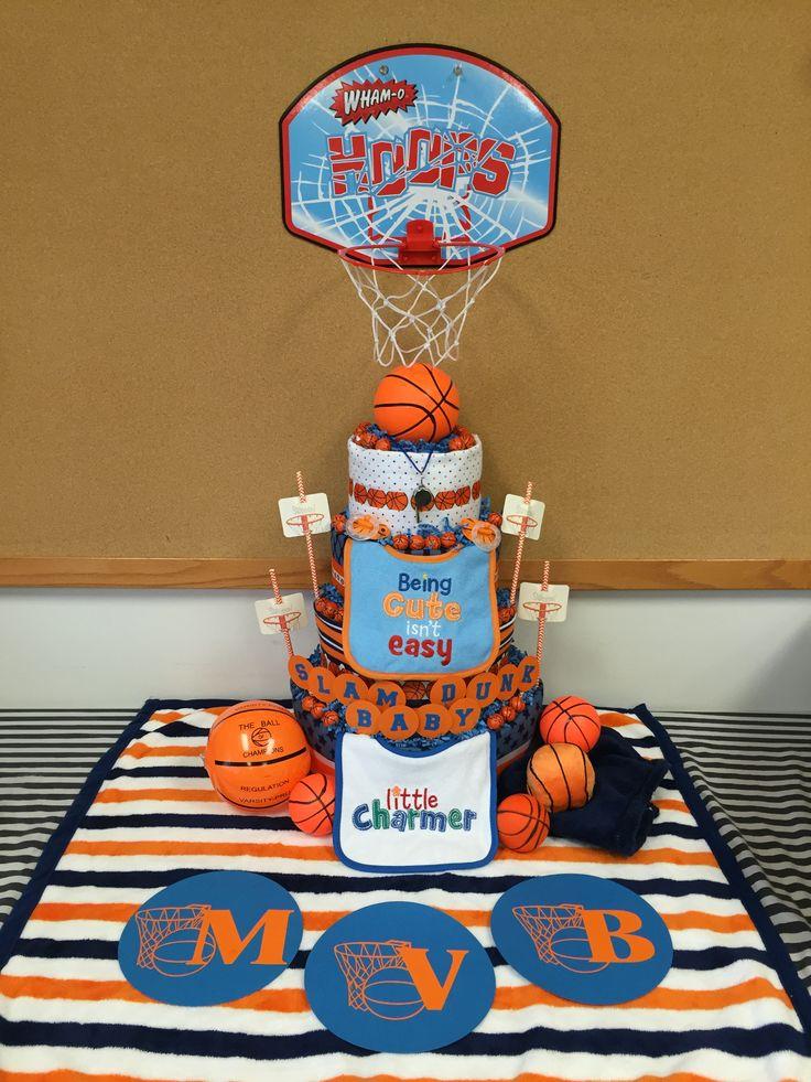 Diaper Cake Basketball Snoopy Baby Shower Basketball