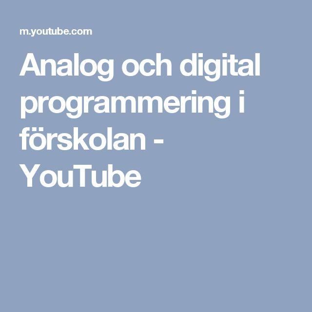 Analog och digital programmering i förskolan - YouTube