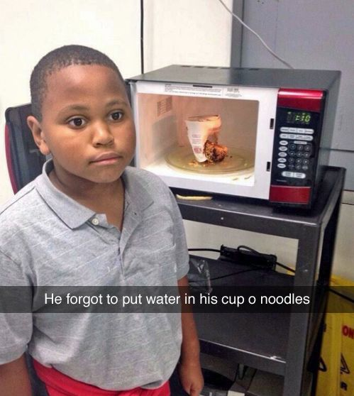 Trying to cook:   27 Pictures That Are Just Too Real>>>>His face.... he is so done