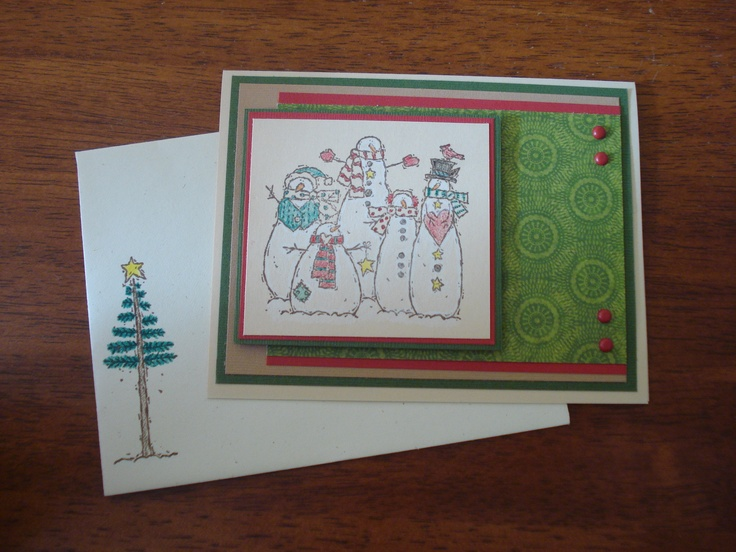 Christmas using Stampin Up Flaky Friends