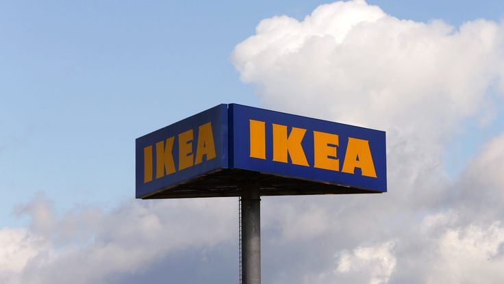 The company's logo is seen outside of an IKEA Group store in Spreitenbach, Switzerland April 27, 2016. REUTERS/Arnd Wiegmann - RTX2C60I