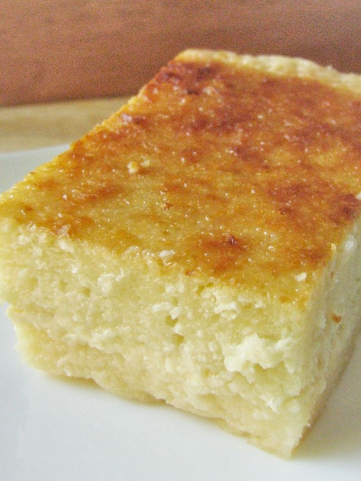 Cassava Cake - flourless custardy cake with amazing tropical flavors #gluten-free