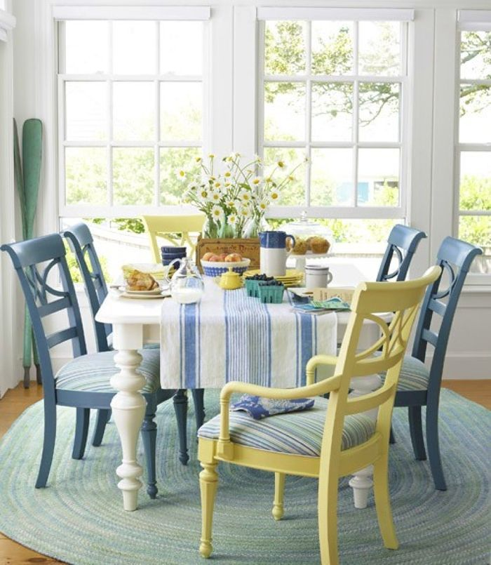 Yellow U0026 Blue Chairs   Beach House Decorating Ideas   Laid Back Decor    Country Living