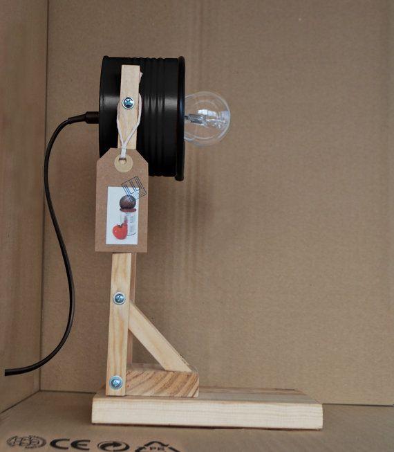 Matte black  desk lamp / night lamp  eco friendly by ILIUI on Etsy