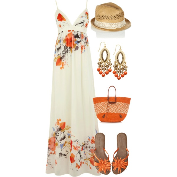 Summer - Polyvore. Okay, I'm not really into maxi dresses but i really like this outfit