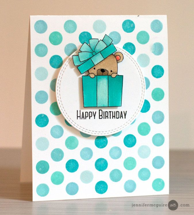 card critters bear gifts MFT beary special birthday Die-namics #mftstamps polka dots