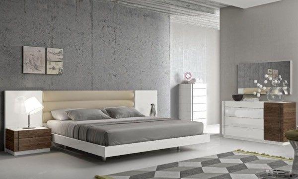 J&M Furniture - Lisbon Natural White Lacquer 6 Piece Eastern King Bedroom Set - 17817-K-6SET