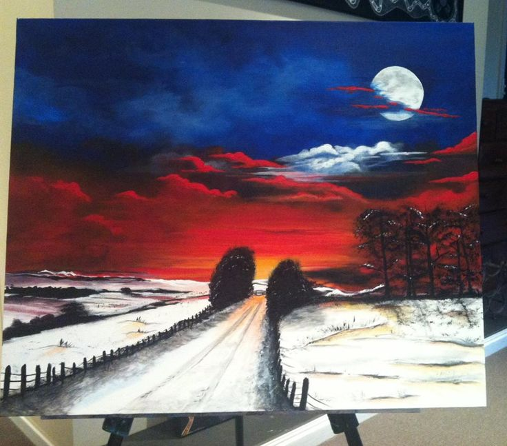 Winter Moon - Victor Harbor Art show exhibit