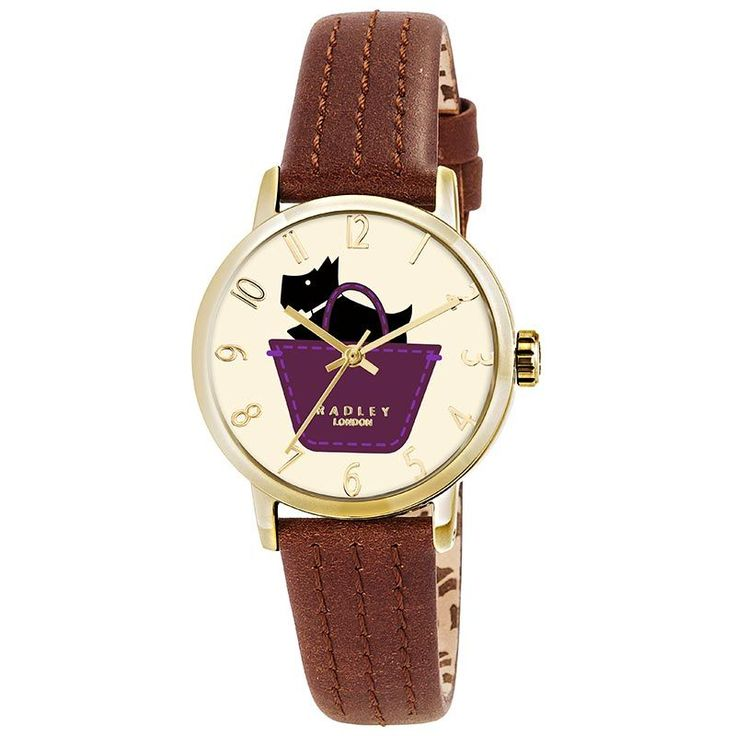 Radley Border Ladies Watch RY2290 #Radley #RadleyWatch #Watch #Brown #Gold #RadleyLondon