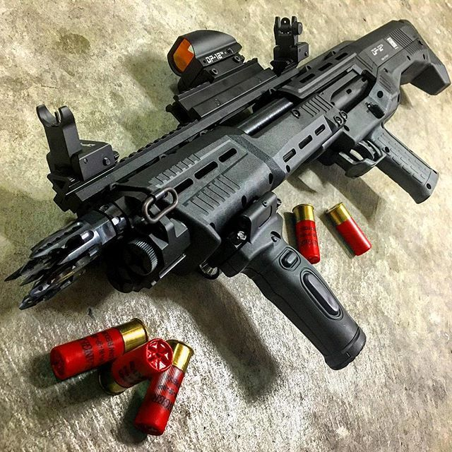 Standard Products DP-12 double barrel 12ga shotgun with the works.