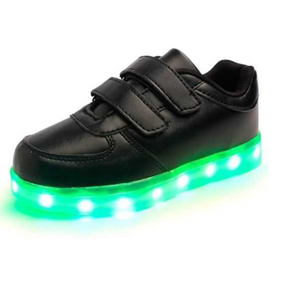 [Present:kleines Handtuch]Schwarz EU 43, High Sneakers Changing Charging Top 7 USB Flash Shoes Sport Couple JUNGLEST® LED-Licht weise Men Sneakers Casu