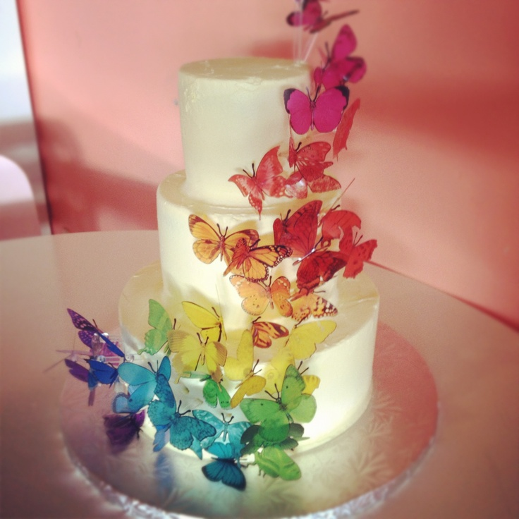 rainbow butterfly wedding cake rainbow butterfly cake by 2tarts bakery new braunfels tx 18957