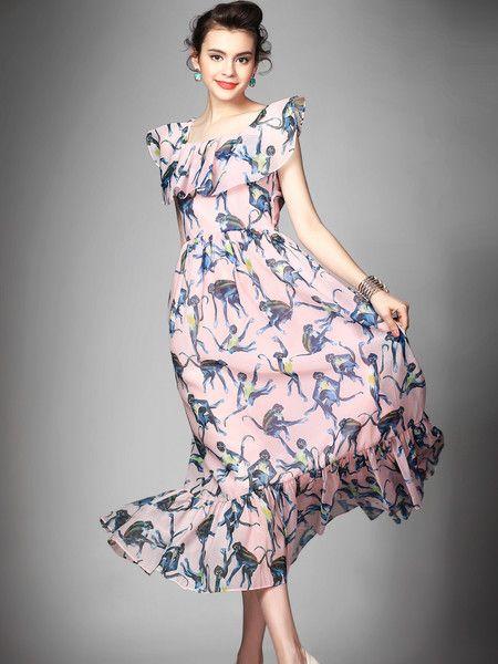 #Stylewe Dyed Polyester Maxi Dress #flower #stylish #amazing #beauty