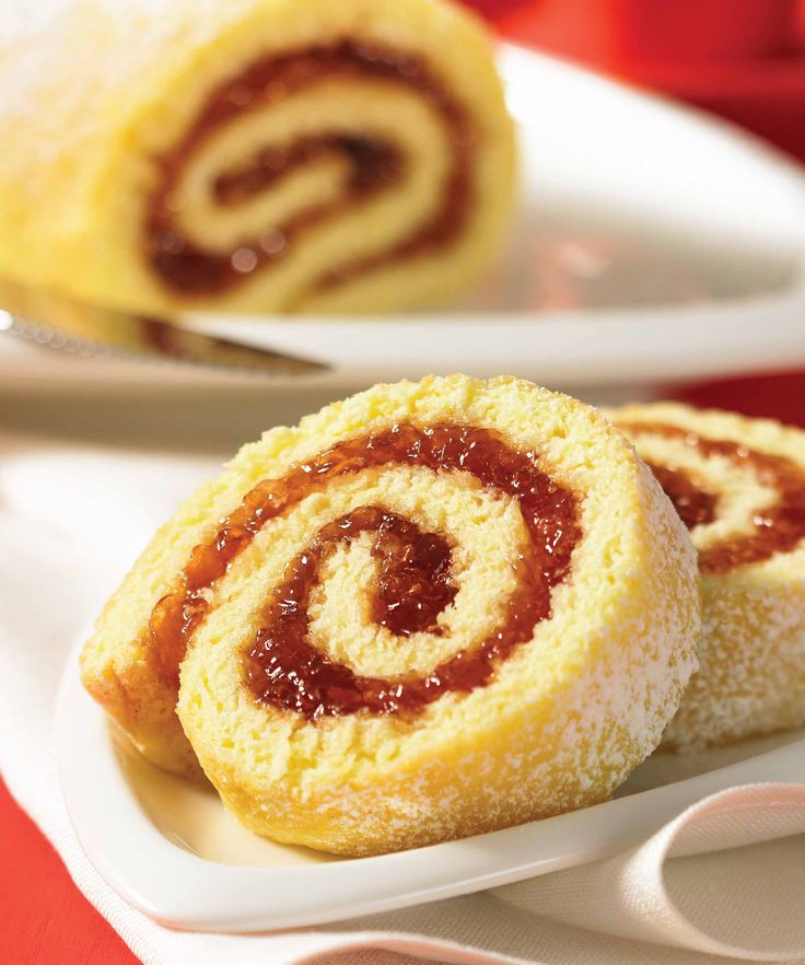 Easy rhubarb jelly, and instructions to make an easy jelly roll.