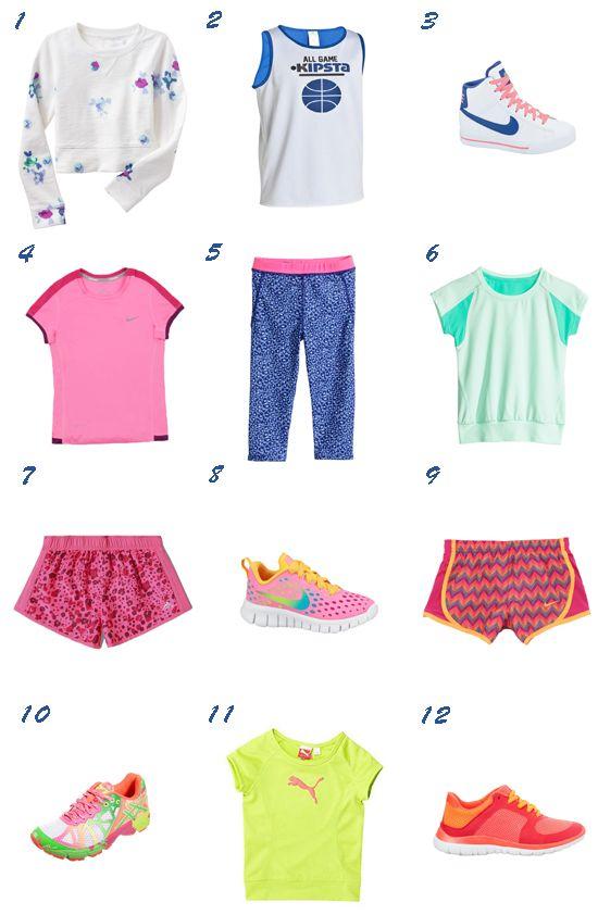 little girl sportswear / Moda deportiva para niña 2014