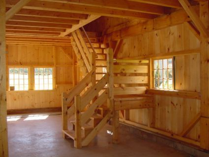 Interior Of One Amp A Half Story Post And Beam Country Barn