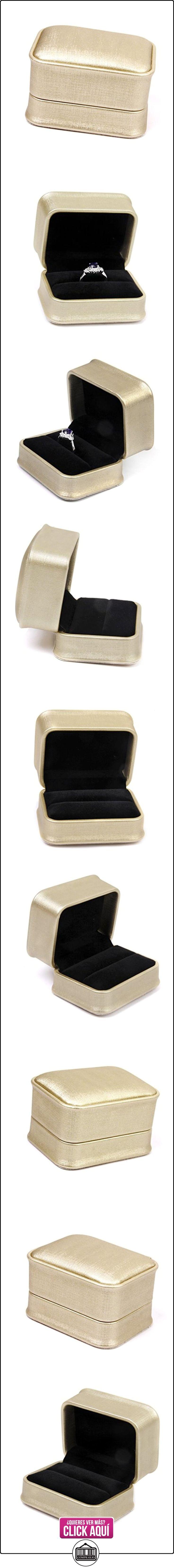 Caja Joyero de Anillo Funda Regalo Boda Fiesta Propuesta Romántico Retánculo Oro  ✿ Joyas para mujer - Las mejores ofertas ✿ ▬► Ver oferta: https://comprar.io/goto/B00VFGH8SA