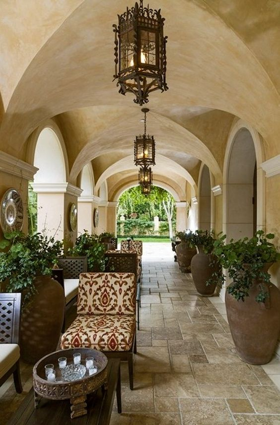 love this tile & these urns | Magnificent Mediterranean Estate, Beverly Hills, 25+ photos:
