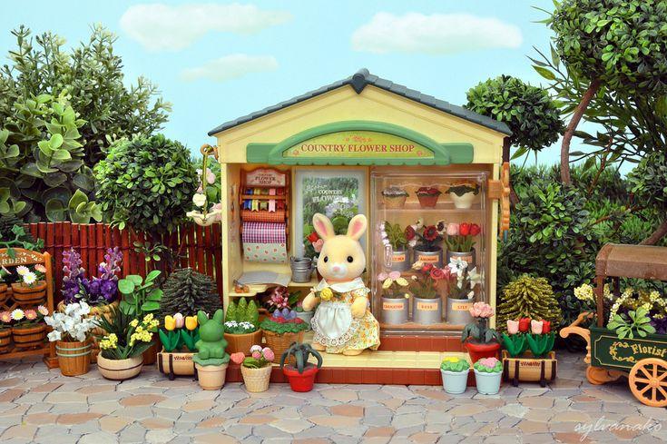 Sylvanian Families - Flower Shop   by Sylvanako