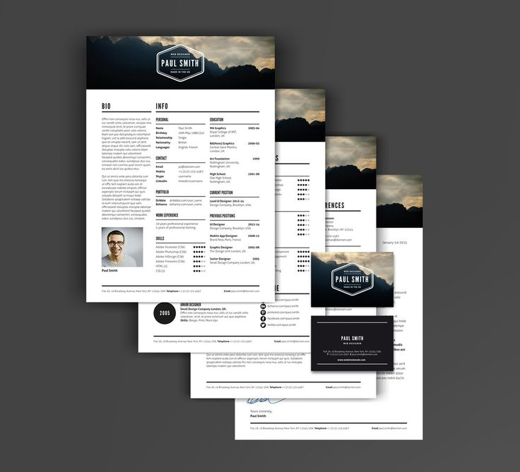 free creative resume templates that stand out%0A The creative resume template with a Retro Hipster design  Build your own  logo and resume design to make you really stand out