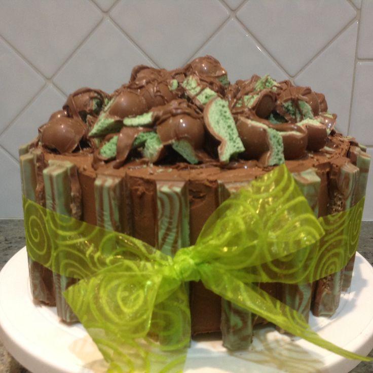 Choc-mint cake