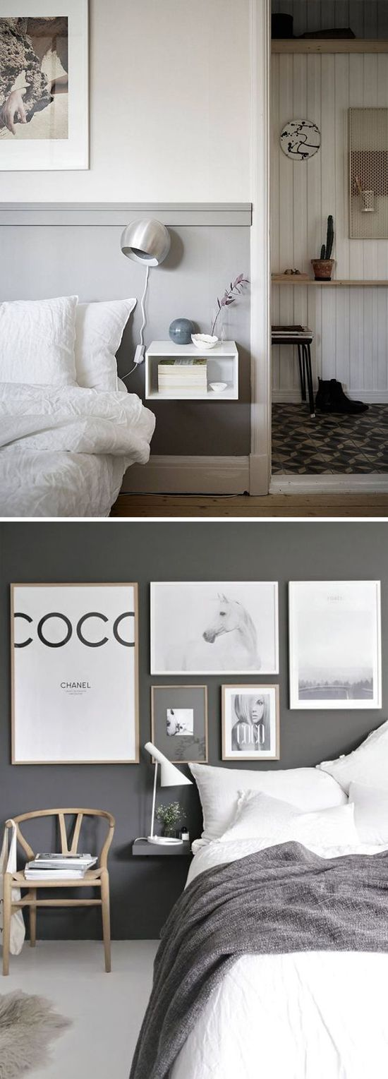 A Floating Nightstand Is The Perfect Space Saving Solution For A Small Bedroom