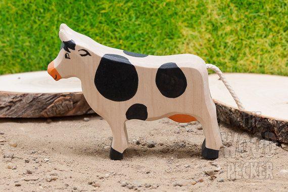Waldorf jouet vache en bois.  ******************************* Tous les jouets…