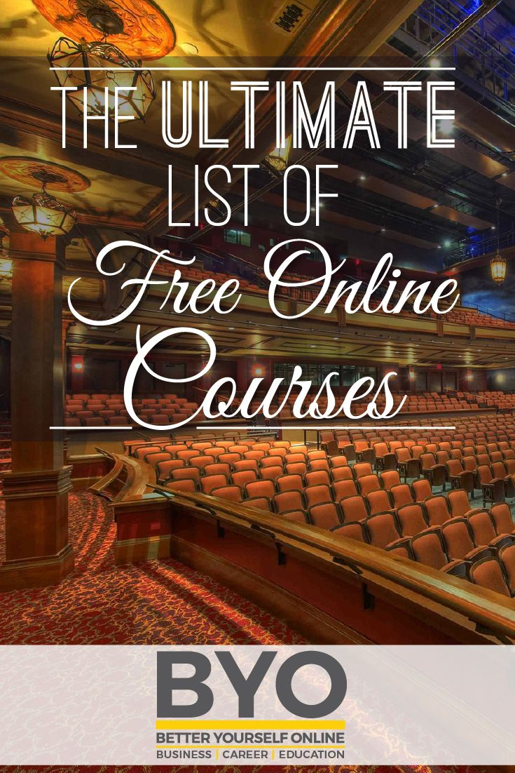 The Ultimate List of Free Online Courses. 1145 free online courses and counting! #Education #online #courses https://occu.info