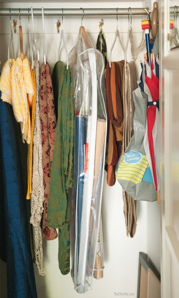 Use this simple - and likely free! - trick to create wrapping paper storage that cleans up the clutter!