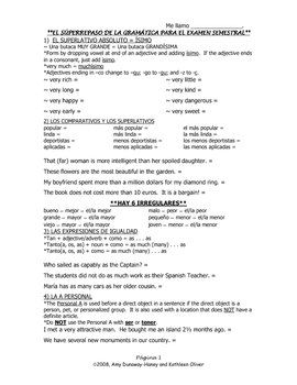 intermediate advanced spanish grammar review sheet 4 pages grammar and spanish. Black Bedroom Furniture Sets. Home Design Ideas
