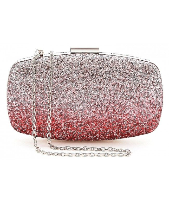 edb1f77658a2 Womens Evening Bags Wedding Clutch Purse with Gradient Colors ...