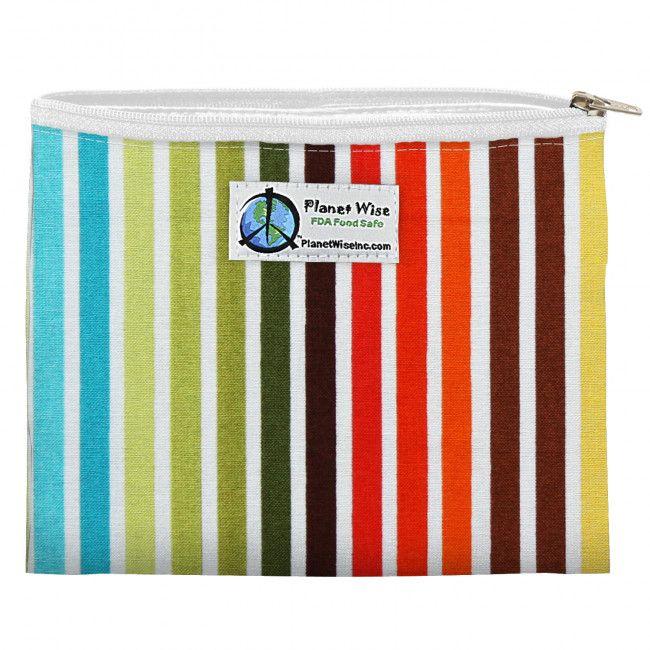 PlanetWise Zipper Sandwich Bag in Earth Stripes.