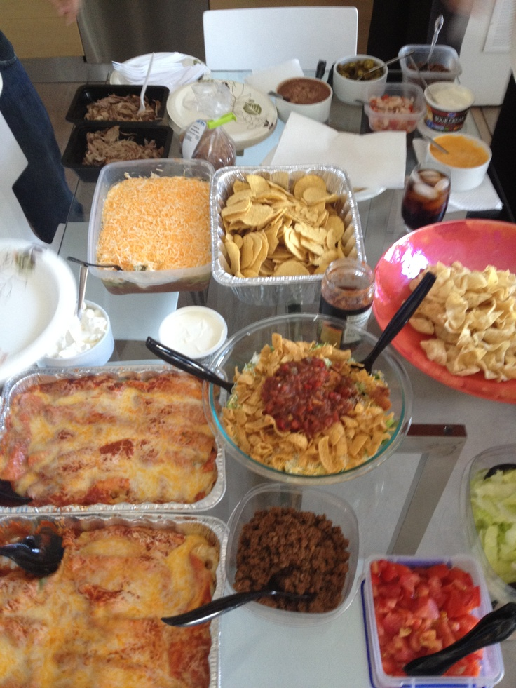 Classroom Potluck Ideas : Mexican theme teacher conference dinner gift