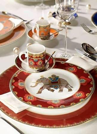 MONEV Exclusive Porselen Yemek Takımı-Ev Sofra-Dekoratif Aksesuar   VIL_HED_SAMAR_RUBIN
