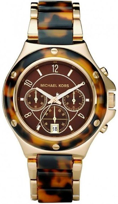 Michael Kors Quartz Chronograph Tortoise Brown Dial Women's Watch MK5448