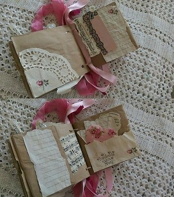 SHABBY CHIC Handmade Junk JOURNAL Diary Scrapbook Keepsake Book SmashBook OOAK