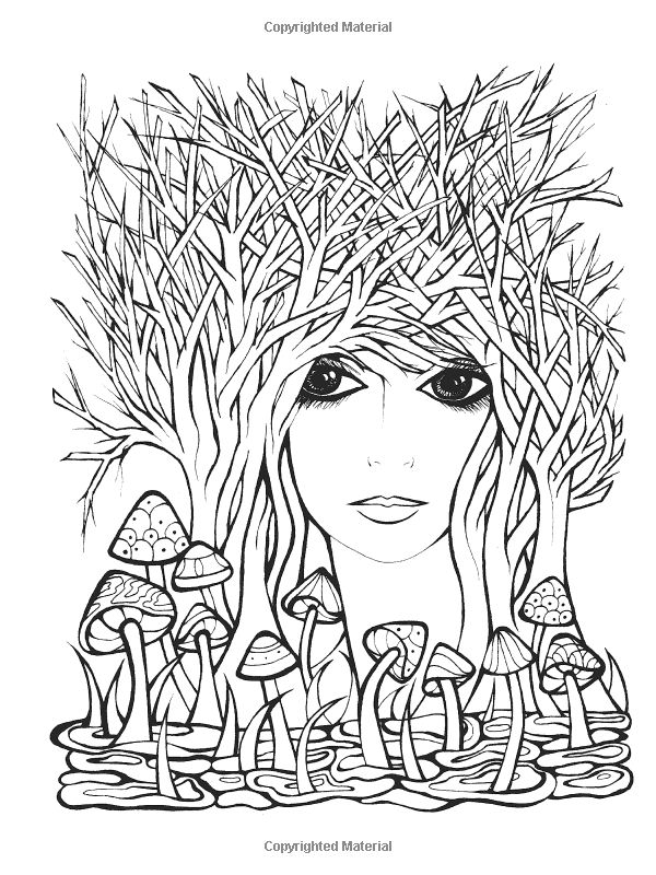 Fanciful Faces Coloring Book (Creative Haven): Miryam ...