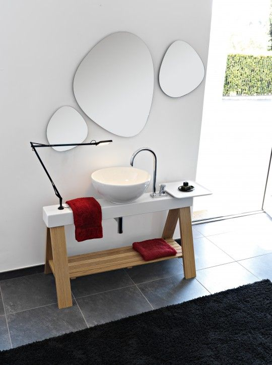 17 best images about mobilier salle de bain on pinterest modern bathrooms - Meuble vasque salle de bain original ...