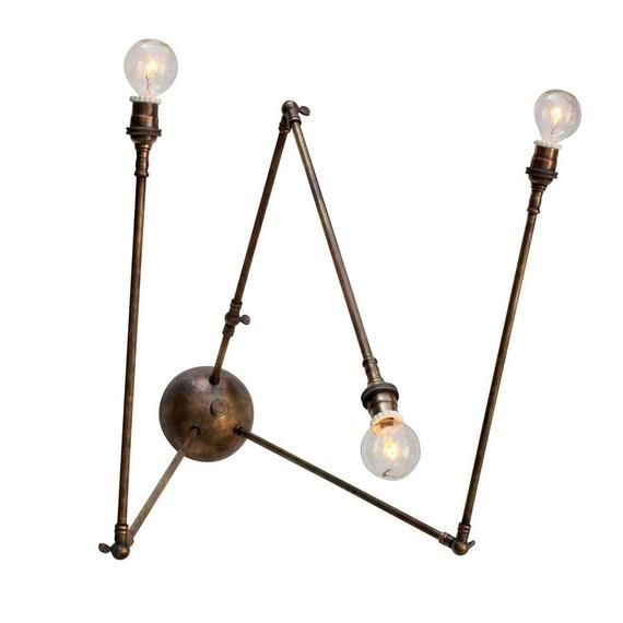 "Daddy Long Legs Sconce, brass and porcelain, 19.5 W, 19"" d, 20.5"" tall, at Downtown Design Gallery"