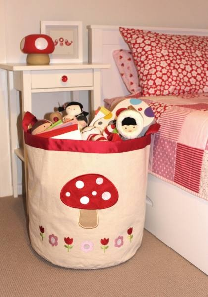 Storage Bins for toys - love the toadstool