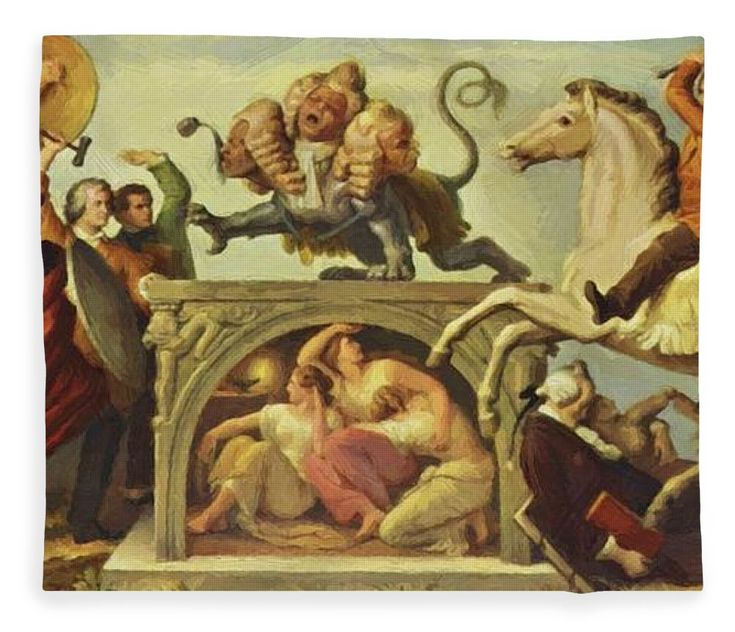 Oil Fleece Blanket featuring the painting Oil Painting by Kaulbach Wilhelm von