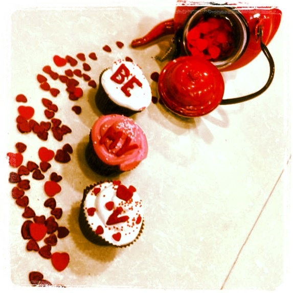 Valentine's Cupcakes! Be My Love!