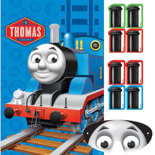 Pin the smoke stack on Thomas party game