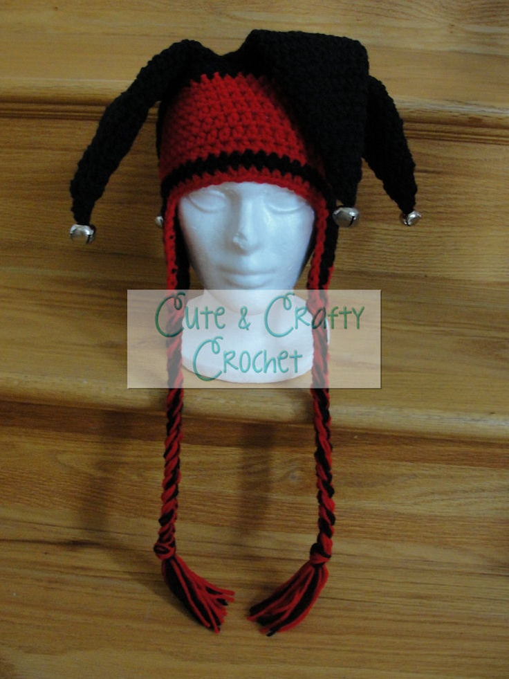 Free Crochet Joker Hat Pattern : Jester Hat - PDF Crochet Pattern
