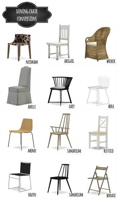 Dining Chair Conversions Mio Sims Sims 4 Updates