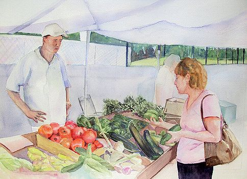 Farmers Market by Katherine  Berlin