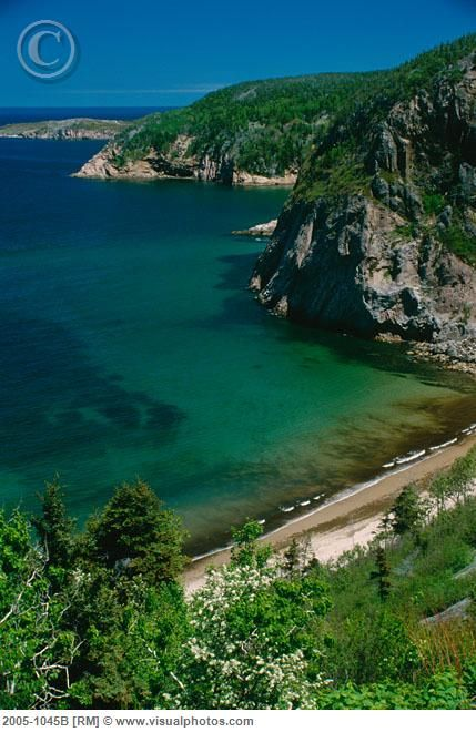 Bay St. Lawrence. Cape Breton Highlands National Park