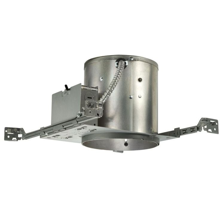 Juno Lighting IC22 6-Inch IC Rated Universal Incandescent Housing with Push In Electrical Connectors and Air-Loc Gasket (Aluminum), Silver